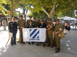 Mike Halik and the Stoys with the Italian re-enactors in Aix en Provence